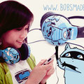 Blue Raccoon custom headphones