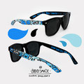 blue monsters custom glasses
