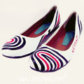 Stripes ballerinas