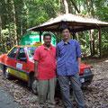 クアンタンのタクシードライバー、ミスター・アキノとともに