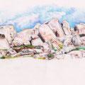 Chaos granitique, îles Lavezzi, Corse. Etat 1.