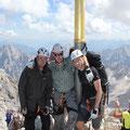 Am 2.964m hohen Gipfel der Zugspitze