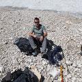 Vorm Gletscher hieß es Steigeisen anziehen