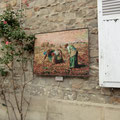 Millet 終の住処となったバビルゾン村にあるタイル画