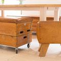 Kleine Sitzbank aus einem Turnbock gefertigt