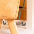 Turnbock umgearbeitet zum Hocker - eine kleine Wiedergutmachung für frühere Anstrengungen
