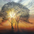 """""""Himmelsfeuer"""" (70 x50)"""