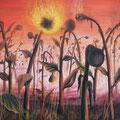 """""""Die letzten glühenden Sonnenblumen"""" (100 x 90)"""