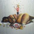 """""""Die Verpupung"""" (70 x 50)"""