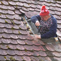 Dachreparatur durch Horst