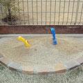 かわいい砂場は使わなくなったら植え込みスペースにできます!