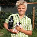 """""""Bulldog vom Woisbach"""" mit seinem Taufpaten Benjamin (Rüde 3)"""