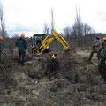 12.01.2013 / Bezirksbaujagd Gänserndorf: Rocky arbeitete im Bau, wir vermuteten eine angeschossene Fuchs-Fähe (deswegen der Bagger), das sollte sich jedoch noch als nicht richtig herausstellen.