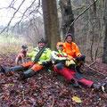 22.&23.11. als Hundeführer bei Drückjagden in Deutschland: Hartes Warten mit Oliver und Markus, bis es endlich mit dem nächsten Trieb weitergeht