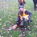 """02.01.2013: Christian´s DJT Ares konnte nach harter Arbeit einen sehr räudigen Fuchs sprengen! --> soviel zur oft kommentierten """"Sinnlosigkeit der Jagd"""""""
