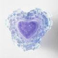 「City lights-Heart-」(キャンドルホルダー) ガラス、キャスト 2014