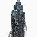 「街にゼリーが降ってきた-Tower-」2011年 ガラス、銅箔