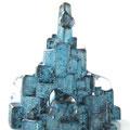 「街にゼリーが降ってきた-Blue-」 2011年 ガラス、銅箔、木粉粘土、アクリル
