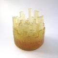 「Buildings-Orange-」(キャンドルホルダー)ガラス、キャスト 2013