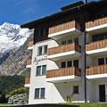 Haus Azurit mit Sicht auf Berg- und Gletscherwelt