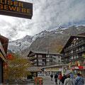 Im Gletscherdorf Saas Fee - auf dem Weg zum Haus Azurit