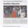 01.12.2018 Presseartikel Glühweinfest auf der Bundeshöhe