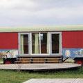 Mietbare Zigeunerwagen auf dem Hofgut Hopfenburg.