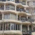 Haus in Barcelona vom Architekten Gaudi gestaltet.