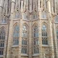 Detailbild Sagrada Familia in Barcelona.