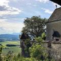 Aussicht ins Umland von Burg Hochosterwitz in Kärnten