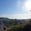 Ausblick vom Campingplatz auf die Bucht von Luz.