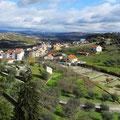 Ausblick von der Festungsanlage in Braganca.