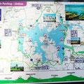 Radwanderweg um den Lac de Paraloup Frankreich