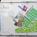 Sevilla - Lageplan Alcazar.