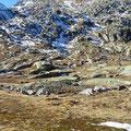 Hochebene des St. Gotthard mit Spuren früherer Gletscher.