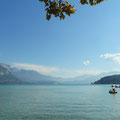 Beginn unserer Rundfahrt um den Lac d´ Annécy.