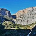 Caminito del Rey - Blick über das Tal auf die erste Schlucht