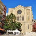 Lleida - Platz in der Altstadt zu Füßen der Catedral Antigua