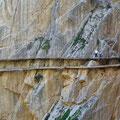 Caminito del Rey - entlang der Steilwand