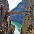 Caminito del Rey - Hängebrücke über die Schlucht