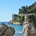 Haupteingang zum Castello Miramar in Triest