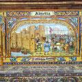 Sevilla - Azulejobilder der Provinzen am Placa de Espana.