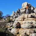 El Torcal - fantastische Steinformationen verleiten zum Klettern