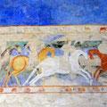 Wandgemälde im Chateau Comtal