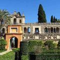 Sevilla -Garten des Alcazar.