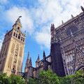 Sevilla - Innenhof der Cathedral.