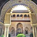 Sevilla - Maurischer Palast im Alcazar.