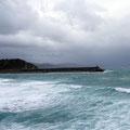 Ungemütliches Wetter an der spanischen Atlantikküste.