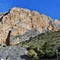 Caminito del Rey -  der Nistfelsen der Geierkolonie