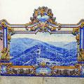 Azulejos im Bahnhof von Pinaho
